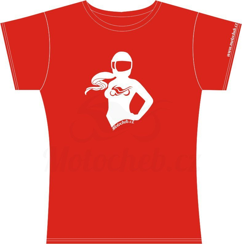01d272eb223 ... Dámské tričko Motorkářka
