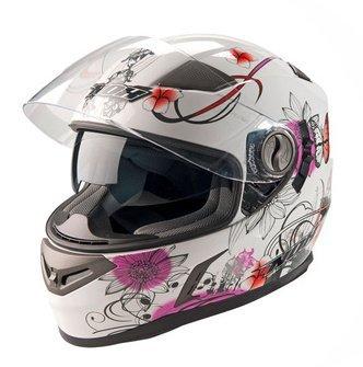 Nox N915 dámská bílá růžová integrální přilba na motorku se sluneční clonou  ... 85d5c264d02