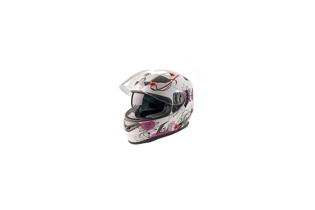 Nox N915 dámská bílá růžová integrální přilba na motorku se sluneční clonou ff79dea0f54