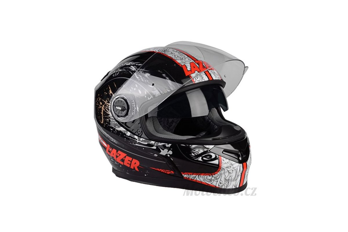 Lazer Bayamo Helter černá-šedá-bílá integrální helma 2c6bb16076