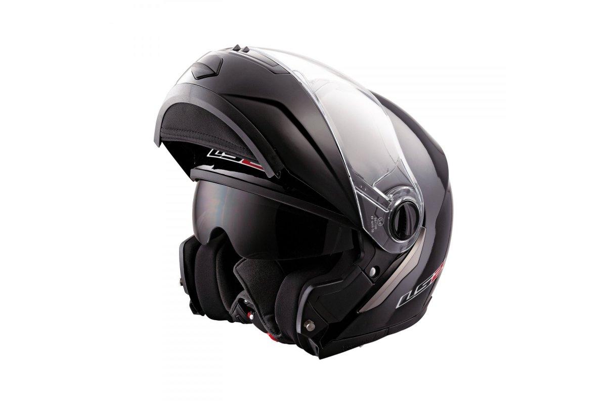 9d58f29999b LS2 FF370 EASY gloss black - černá lesklá vyklápěcí helma na motorku ...