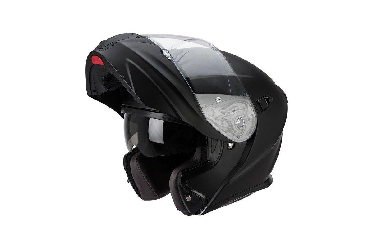b8c5f24d157 Scorpion EXO-920 černá matná výklopná helma na motorku