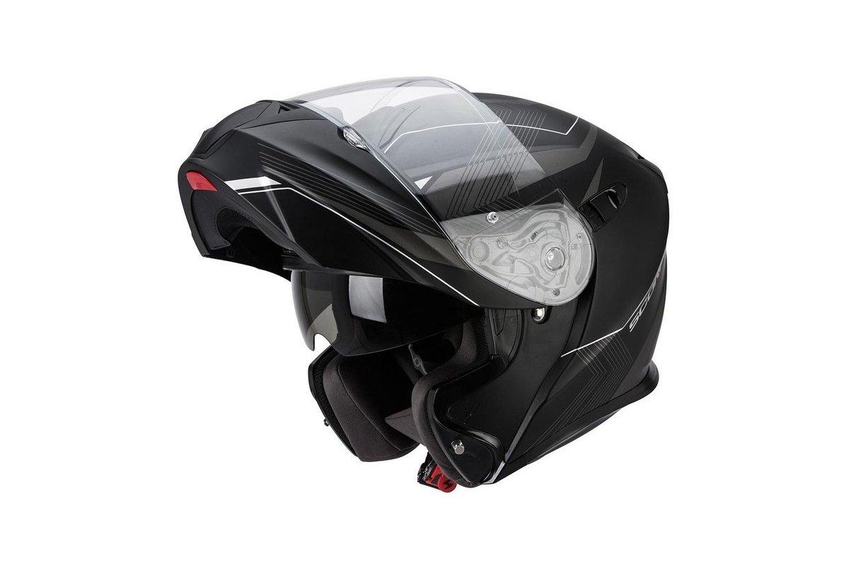 1c1a8a1c9db Scorpion EXO-920 GEM černá-stříbrná matná výklopná helma na motorku ...