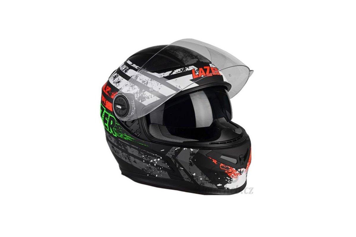 Lazer Bayamo Splash černá matná grafika integrální helma  e89fe7f1bd