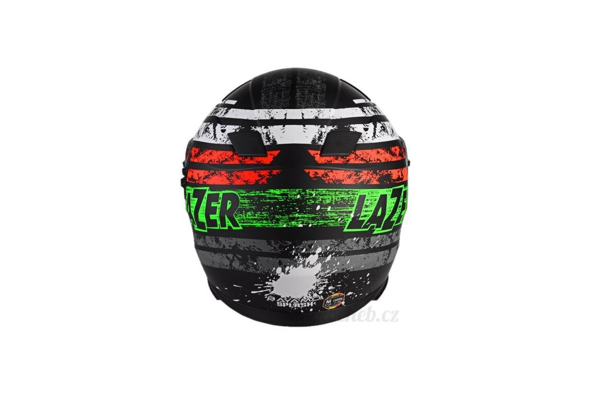 Lazer Bayamo Splash černá matná grafika integrální helma. ‹ › c1b5bce55d