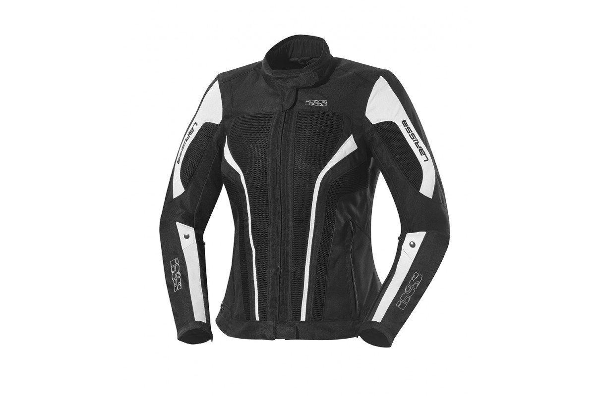 IXS LARISSA dámská letní černo-bílá textilní bunda na motorku  47e168726f