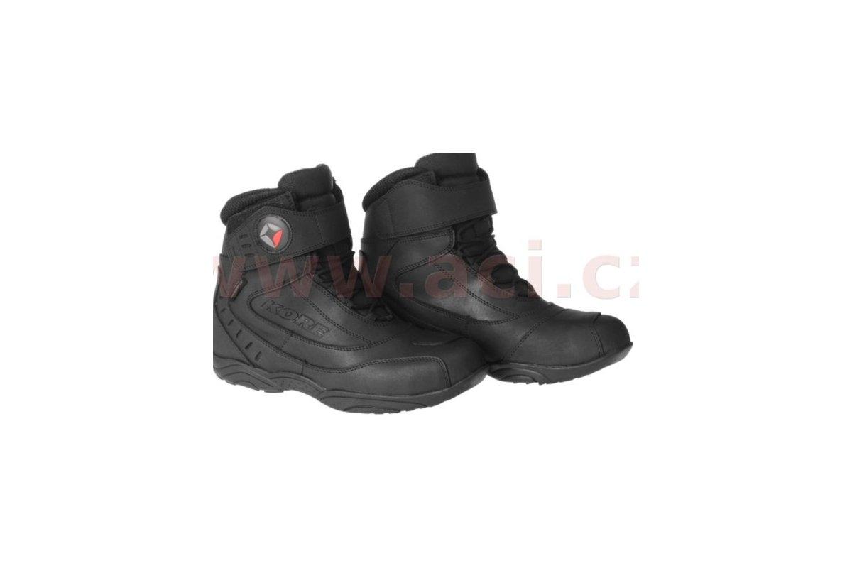 fd4ff0941184 Kore Velcro kotníkové černé boty na motorku