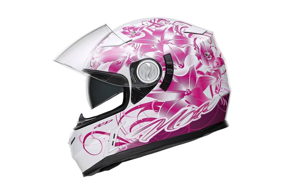 Nox N915 Ladybug dámská bílá růžová integrální přilba na motorku se  sluneční clonou bb45e49f4e6