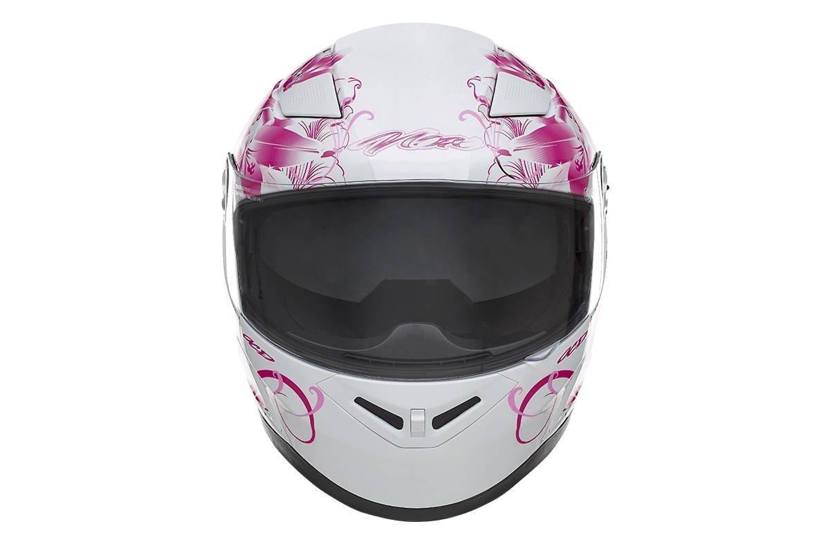 Nox N915 Ladybug dámská bílá růžová integrální přilba na motorku se  sluneční clonou. ‹ › 4132205b112