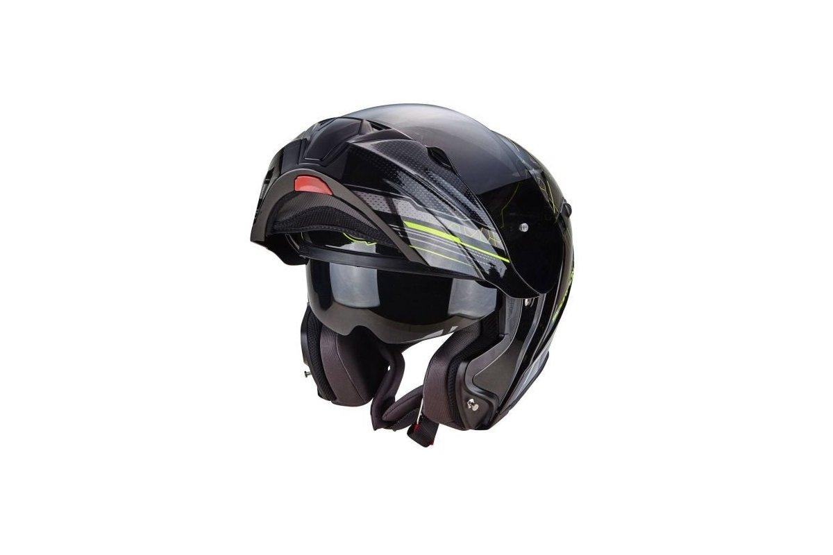 a8b146b8f7f Scorpion EXO-920 SATELLITE matná černá neonově žlutá výklopná helma na  motorku