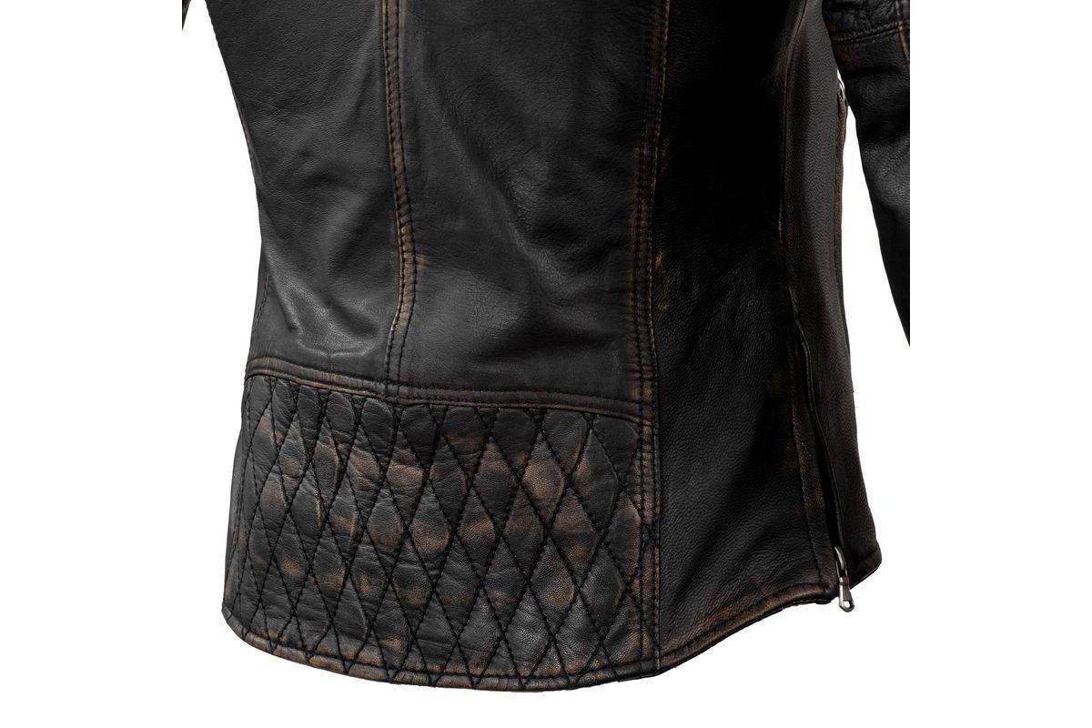 aaa3db287 Rebelhorn Hunter, dámská černá kožená bunda na motorku   Moto ...