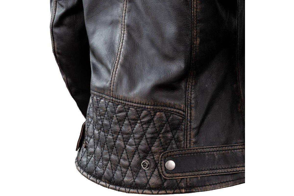 f4b509c56 Dámská kožená moto bunda Rebelhorn Hunter PRO Vintage, černá retro bunda na  motorku