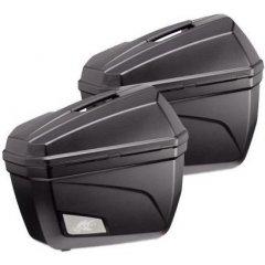 Kappa K22N - 2 černé nelakované boční kufry (2x22 litrů) Monokey