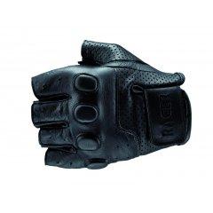 RACER BUBBLE kožené rukavice na motorku bez prstů, bezprsťáky černé
