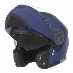 NOX N965 modrá matná výklopná přilba na motorku