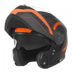 NOX N965 Peak černá oranžová výklopná přilba na motorku