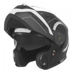 NOX N965 Peak černá bílá výklopná přilba na motorku