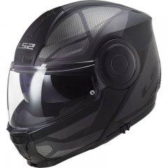 LS2 FF902 SCOPE SOLID GLOSS BLACK vyklápěcí přilba na motorku