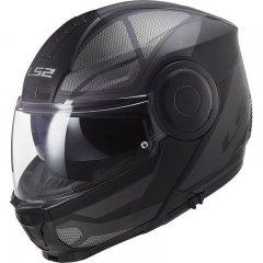 LS2 FF902 SCOPE AXIS BLACK TITANIUM vyklápěcí přilba na motorku