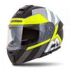 Cassida Modulo 2.0 Profile bílá černá žlutá fluo šedá vyklápěcí helma