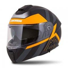 Cassida Modulo 2.0 Profile černá matná šedá oranžová vyklápěcí helma