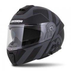 Cassida Modulo 2.0 Profile Vision černá matná šedá šedá reflexní vyklápěcí helma