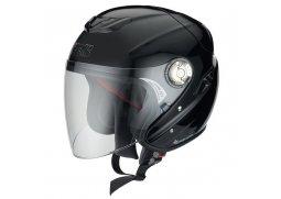 IXS HX 91 jet černá matná otevřená přilba se sluneční clonou na motorku a  scooter 4ee8531ed23